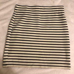 Strip Mini Skirt